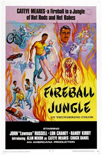 FIREBALL JUNGLE   Original American One Sheet   (Americana, 1968)