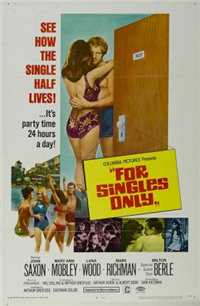 FOR SINGLES ONLY   Original American One Sheet   (Universal, 1968)