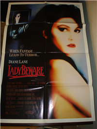 LADY BEWARE   Original American One Sheet   (Scotti Brothers Pictures, 1987)