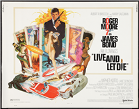 LIVE AND LET DIE   Original American Half Sheet   (United Artists, 1973)