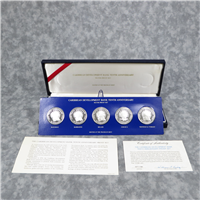 Franklin Mint  Caribbean Development Bank Tenth 10th Anniversary Silver Proof Set