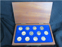 America's Triumphs in Space Gold Medals Set (Danbury Mint, 1979, 14K Gold)
