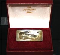 America's 10th Tenth Anniversary in Space Commemorative Ingot  (Franklin Mint, 1971)