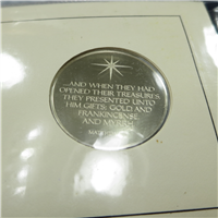 The Annual Christmas in Bethlehem Commemorative Medal and First Day Cover  (Franklin Mint, 1973)