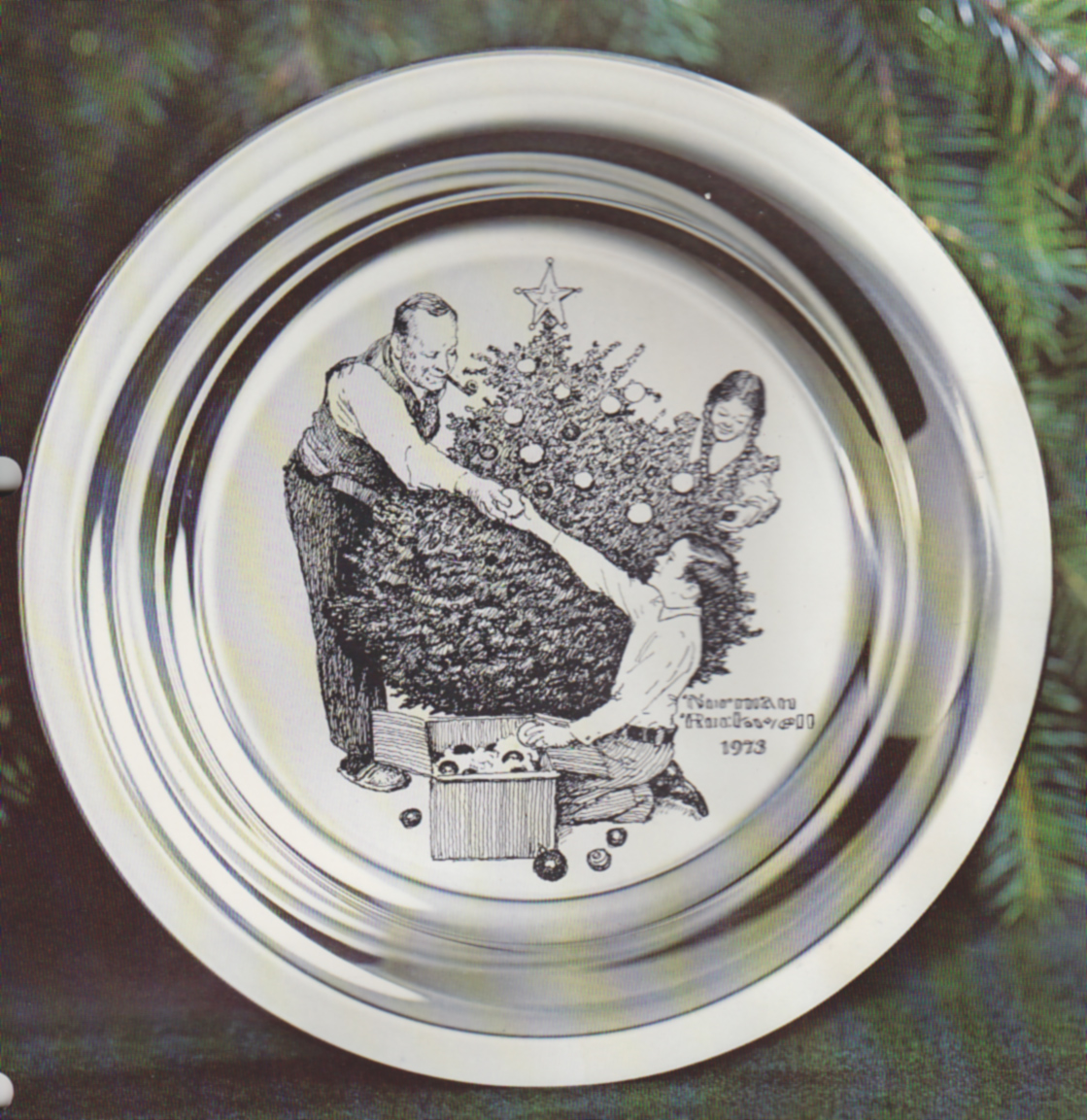 Trimming The Tree by Norman Rockwell Christmas Plate (Franklin Mint ...