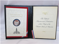 The Official Bicentennial Day Commemorative Medal     (Franklin Mint, 1976)