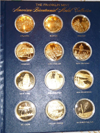 The American Bicentennial 18 KT Gold Medals Collection  (Franklin Mint, 1976)