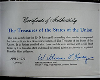 The Treasures of the States of the Union Medals Collection  (Franklin Mint, 1979)