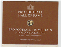 Franklin Mint  Pro Football's Immortals  (Mini-Coins, Gold)