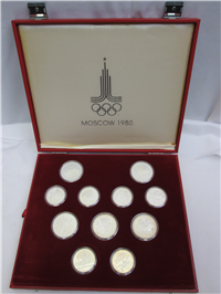 1980 Moscow Olympics XXII Olympiad 28 Coin Silver Proof Set