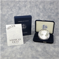 2001W American Eagle Silver Dollar Proof in Box with COA