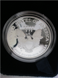 American Eagle Silver Dollar Proof with Box & COA   (US Mint, 2002W )