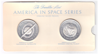 Franklin Mint  America In Space Medals Set of 36 (39MM Sterling)