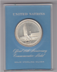Franklin Mint  United Nations Official 25th Anniversary Commemorative Medal
