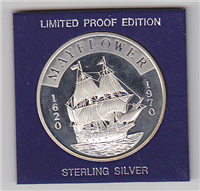 The Mayflower Commemorative Silver Medal (Franklin Mint, 1970)