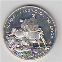 Franklin Mint  Apollo 11 First Manned Landing on the Moon Commemorative Medal  (Sterling)