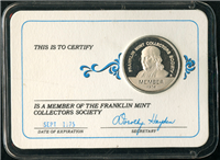 Franklin Mint  Membership Card and Coin