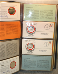 The National Governors' Conference Official Statehood Medals and First Day Covers  (Franklin Mint, 1974)