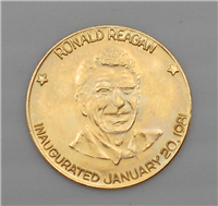 The Ronald Reagan Official Gold Presidential Inaugural Medal   (Danbury Mint, 1981)
