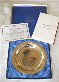 'Mother and Child' by Irene Spencer Limited Edition Mother's Day Plate   (Franklin Mint, 1972)
