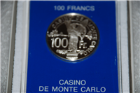 Franklin Mint  Official Casino de Monte Carlo 100 Francs Gaming Tokens