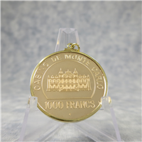 Official Casino de Monte Carlo 1000 Franc Solid Gold Chip (Franklin Mint, 1979)