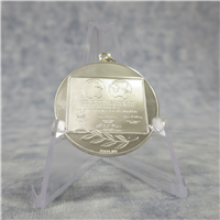 First Step on the Moon Sterling Silver Eyewitness Pendant (Franklin Mint, 1969)