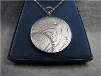 Viking I Landing On Mars Eyewitness Silver Pendant (Franklin Mint, 1976)