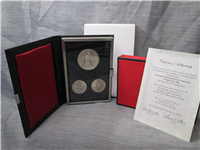 Royal Silver Wedding Anniversary Commemorative Medal 3 Coin Set (Franklin Mint, 1972)