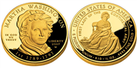 USA 2007 W Martha Washington $10 Gold Coin from First Spouse Series