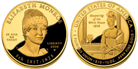 USA 2008 W Elizabeth Monroe $10 Gold Coin from First Spouse Series