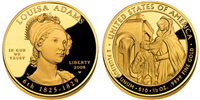 USA 2008 W Louisa Adams $10 Gold Coin from First Spouse Series