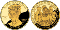 USA 2009 W Anna Harrison $10 Gold Coin from First Spouse Series