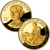 USA 2009 W Margaret Taylor $10 Gold Coin from First Spouse Series
