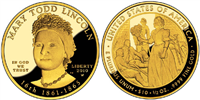 USA 2009 W Mary Todd Lincoln $10 Gold Coin from First Spouse Series
