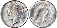 Common Peace Silver Dollars (Any Date 1921 - 1935)