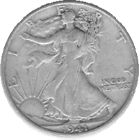 Common Walking Liberty Silver Half Dollars (Any Date 1916 - 1947) Coins