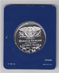 Franklin Mint  The Official 1985 Ronald Reagan Presidential Inaugural Medal