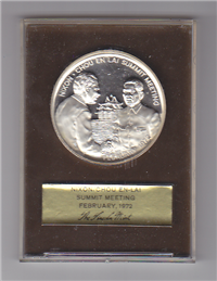 Nixon-Chou En-Lai Summit Meeting Commemorative Medal   (Lincoln Mint, 1972)