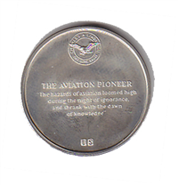 """International Silver: Charles A. Lindbergh Commemorative Medal """"The Aviation Pioneer"""" (Sterling)"""