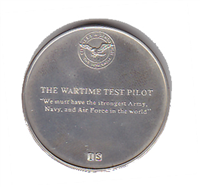 "International Silver: Charles A. Lindbergh Commemorative Medal ""The Wartime Test Pilot"" (Sterling)"