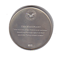 "International Silver: Charles A. Lindbergh Commemorative Medal ""The Visionary"" (Sterling)"
