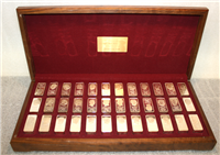 Presidential Silver Ingots Collection, 5000 Grain Edition   (Danbury Mint, 1975)