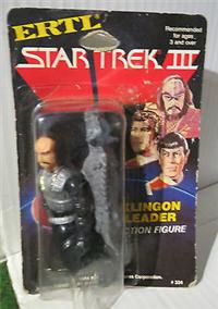 KLINGON LEADER   (Star Trek Iii: The Search For Spock, ERTL, 1984 - 1984)