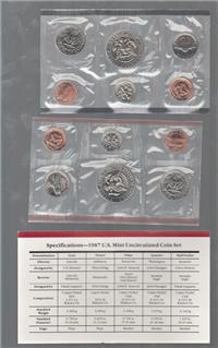 USA  10 Coins Uncirculated Set  (US Mint, 1987)
