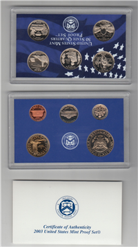 USA   10 Coins 50 State Quarters Proof Set   (US Mint, 2003)