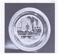 "1974 Franklin Mint Thanksgiving Plate ""The Thanksgiving Prayer"" by Stevan Dohanos"