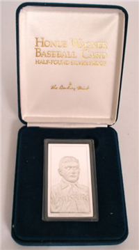 Danbury Mint  Honus Wagner Piedmont Cigarettes Silver Baseball Card Ingot