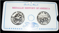 The Medallic History of America Commemorative Medals Collection    (Danbury Mint, 1974)