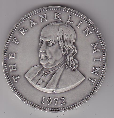 Franklin Mint 1972 Benjamin Franklin Paperweight Medal ...